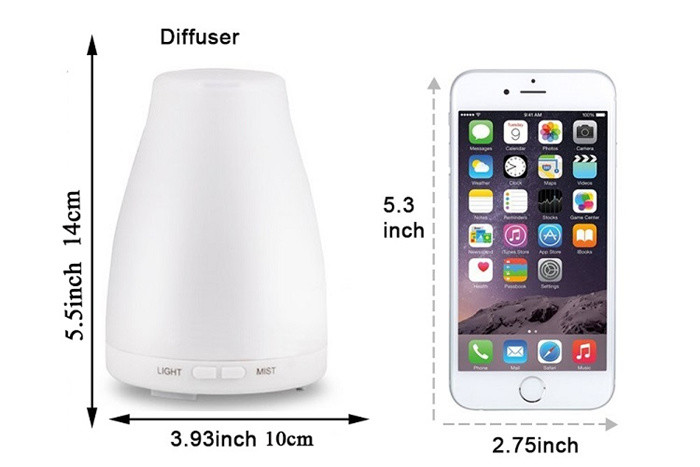 PP Material Aroma Diffuser Humidifier With White 7 Colors